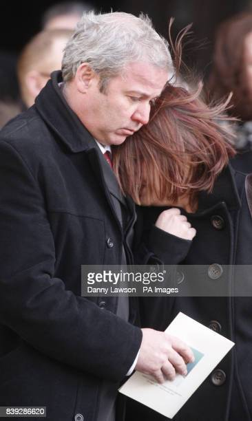 Mourners attend the funeral of Lance Corporal Tommy Brown who was killed by a bomb in Afghanistan three days before Christmas at Glasgow Cathedral