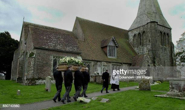 Mourners convey the coffin of Lord Hailsham for the Tory peer's funeral service before burial at All Saints Church Herstmonceux Lord Hailsham who...