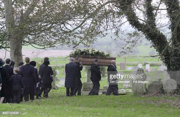 Mourners convey the coffin of Tory peer Lord Hailsham for burial at All Saints Church Herstmonceux Lord Hailsham who died at his London home aged 94...