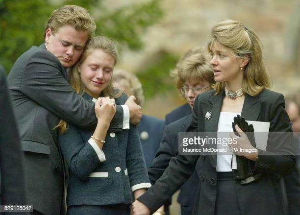 Mourners following the coffin of Alec Stewart who trained Mtoto ridden by Michael Roberts to Ascot glory in 1988 Alec Stewart trainer of the great...