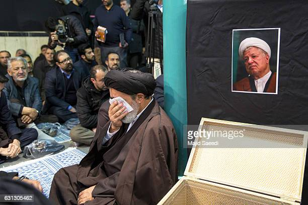 Mourners gather at at Jamaran mosque during the mourning ceremony of one of the late founders of the Islamic Republic Akbar Hashemi Rafsanjani...