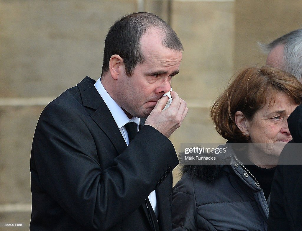 Mourners leave the funeral service at St Andrews Cathedral for PC Kirsty Nelis who was killed in the Clutha Bar Helicopter Crash on December 11 2013...
