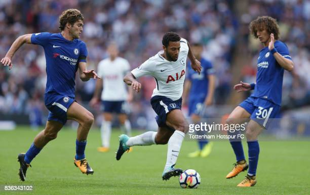 Mousa Dembele of Tottenham during the Premier League match between Tottenham Hotspur and Chelsea at Wembley Stadium on August 20 2017 in London...