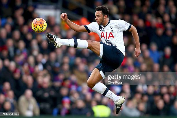 Mousa Dembele of Tottenham Hotspur during the Barclays Premier League match between Crystal Palace and Tottenham Hotspur at Selhurst Park on January...