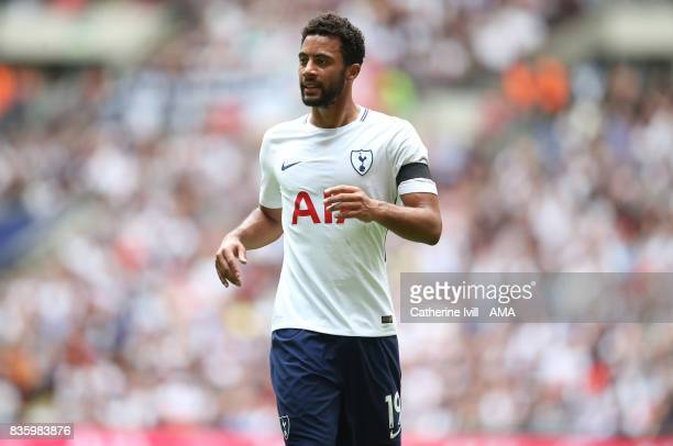 Mousa Dembele of Tottenham Hotspur during the Premier League match between Tottenham Hotspur and Chelsea at Wembley Stadium on August 20 2017 in...
