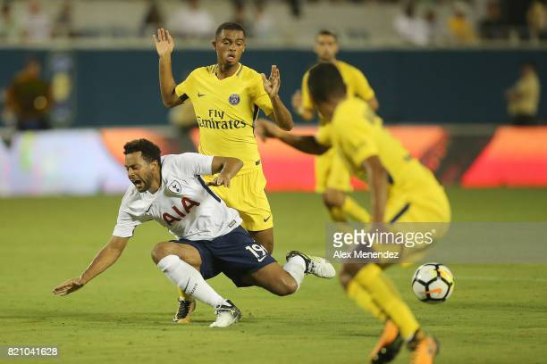 Mousa Dembele of Tottenham Hotspur gets fouled during the International Champions Cup 2017 match between Paris SaintGermain and Tottenham Hotspur at...