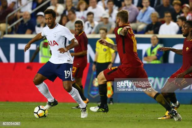 Mousa Dembele of Tottenham Hotspur in action against Roma during the International Champions Cup 2017 at Red Bull Arena on July 25 2017 in Harrison...