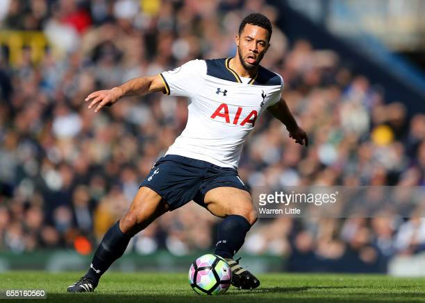 Mousa Dembele of Tottenham Hotspur in action during the Premier League match between Tottenham Hotspur and Southampton at White Hart Lane on March 19...