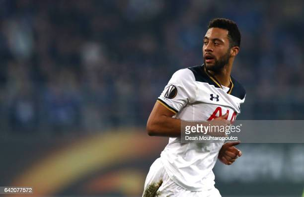 Mousa Dembele of Tottenham Hotspur looks on during the UEFA Europa League Round of 32 first leg match between KAA Gent and Tottenham Hotspur at...