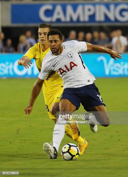 Mousa Dembele of Tottenham Hotspurs battles for the ball with Giovani Lo Celso of Paris SaintGermain during a International Champions Cup 2017 game...