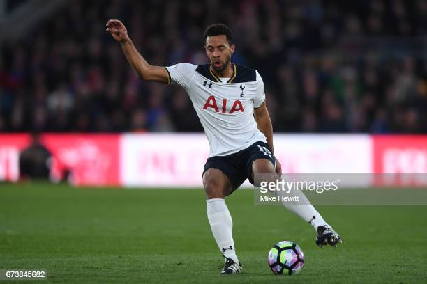 Mousa Dembele of Tottenham in action during the Premier League match between Crystal Palace and Tottenham Hotspur at Selhurst Park on April 26 2017...