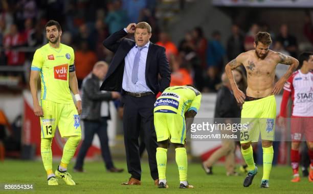 20170820 Mouscron Belgium / Excel Mouscron v Kaa Gent / 'nHein VANHAEZEBROUCK Deception'nFootball Jupiler Pro League 2017 2018 Matchday 4 / 'nPicture...
