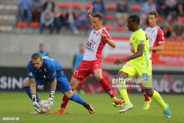 20170820 Mouscron Belgium / Excel Mouscron v Kaa Gent / 'nLogan BAILLY Mergim VOJVODA Mamadou SYLLA'nFootball Jupiler Pro League 2017 2018 Matchday 4...