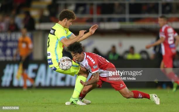 20170820 Mouscron Belgium / Excel Mouscron v Kaa Gent / 'nLouis VERSTRAETE Omar GOVEA'nFootball Jupiler Pro League 2017 2018 Matchday 4 / 'nPicture...