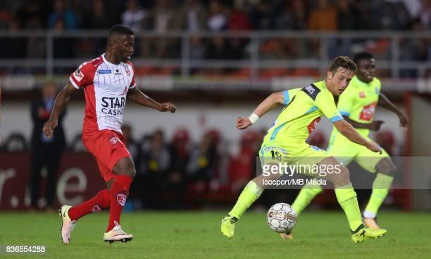 20170820 Mouscron Belgium / Excel Mouscron v Kaa Gent / 'nMohamed AIDARA Brecht DEJAEGERE'nFootball Jupiler Pro League 2017 2018 Matchday 4 /...