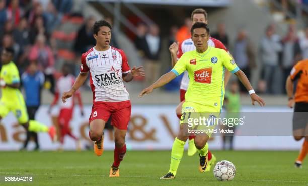 20170820 Mouscron Belgium / Excel Mouscron v Kaa Gent / 'nOmar GOVEA Yuya KUBO'nFootball Jupiler Pro League 2017 2018 Matchday 4 / 'nPicture by...