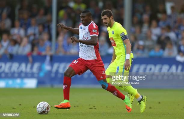20170820 Mouscron Belgium / Excel Mouscron v Kaa Gent / 'nTaiwo AWONIYI Stefan MITROVIC'nFootball Jupiler Pro League 2017 2018 Matchday 4 / 'nPicture...
