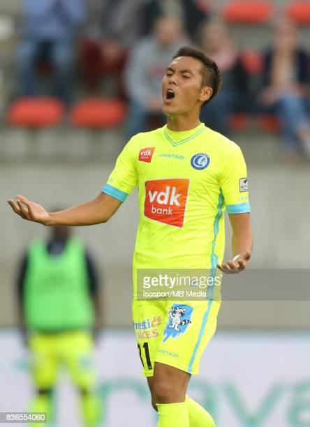 20170820 Mouscron Belgium / Excel Mouscron v Kaa Gent / 'nYuya KUBO Deception'nFootball Jupiler Pro League 2017 2018 Matchday 4 / 'nPicture by...