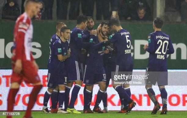 20171118 Mouscron Belgium / Excel Mouscron v Rsc Anderlecht / 'nMassimo BRUNO Celebration'nFootball Jupiler Pro League 2017 2018 Matchday 15 /...