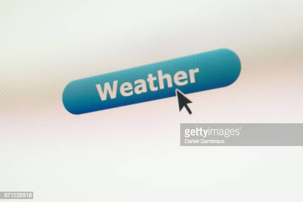 Mouse arrow clicking on WEATHER button on computer screen