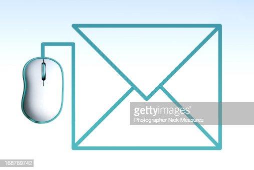 Mouse E-Mail : Foto de stock