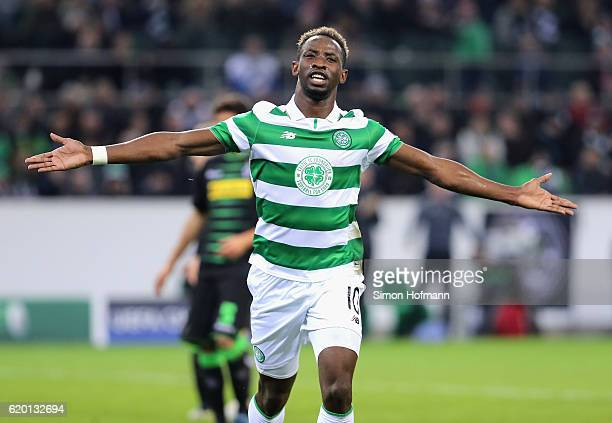 Moussa Dembele of Celtic celebrates scoring his sides first goal during the UEFA Champions League Group C match between VfL Borussia Moenchengladbach...