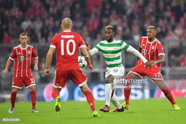 Moussa Dembele of Celtic FC in action during the UEFA Champions League group B match between Bayern Muenchen and Celtic FC at Allianz Arena on...