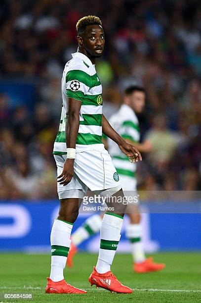 Moussa Dembele of Celtic FC looks on during the UEFA Champions League Group C match between FC Barcelona and Celtic FC at Camp Nou on September 13...