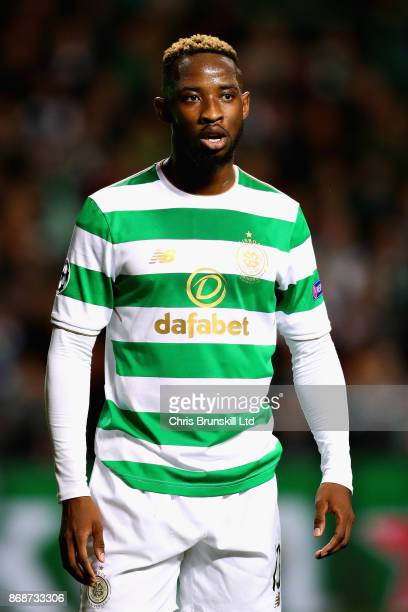 Moussa Dembele of Celtic FC looks on during the UEFA Champions League group B match between Celtic FC and Bayern Muenchen at Celtic Park on October...
