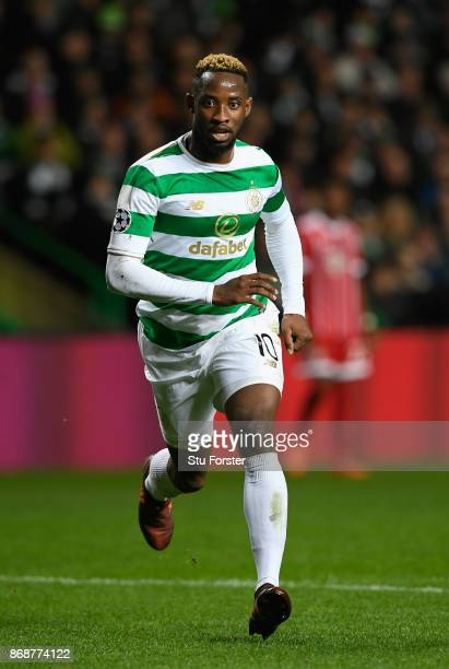 Moussa Dembele of Celtic in action during the UEFA Champions League group B match between Celtic FC and Bayern Muenchen at Celtic Park on October 31...