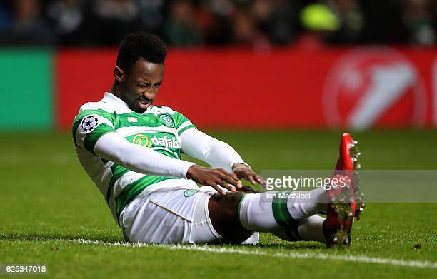 Moussa Dembele of Celtic reacts during the UEFA Champions League Group C match between Celtic FC and FC Barcelona at Celtic Park Stadium on November...