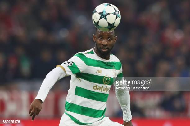 Moussa Dembele of Celtic runs with the ball during the UEFA Champions League group B match between Bayern Muenchen and Celtic FC at Allianz Arena on...