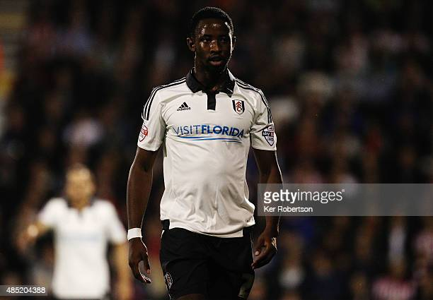 Moussa Dembele of Fulham is seen during the Capital One League Cup Second Round match between Fulham and Sheffield United at Craven Cottage on August...