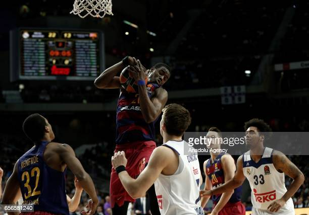 Moussa Diagne of Barcelona Lassa during the Turkish Airlines Euroleague basketball match between Real Madrid and Barcelona Lassa at Wizink Center in...