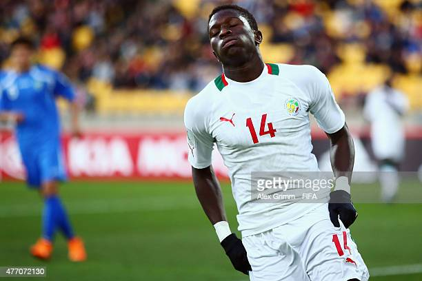 Moussa Kone of Senegal reacts during the FIFA U20 World Cup New Zealand 2015 Quarter Final match between Senegal and Uzbekistan at Wellington...