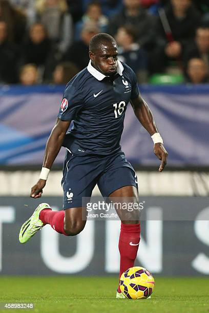 Moussa Sissoko of France in action during the international friendly match between France and Albania at Stade de la Route de Lorient stadium on...