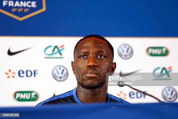 Moussa Sissoko of France in press conference during the preparation of the French National football Team for Euro 2016 on May 20 2016 in Biarritz...