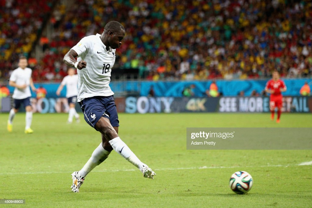 <a gi-track='captionPersonalityLinkClicked' href=/galleries/search?phrase=Moussa+Sissoko&family=editorial&specificpeople=4191251 ng-click='$event.stopPropagation()'>Moussa Sissoko</a> of France scores his team's fifth goal during the 2014 FIFA World Cup Brazil Group E match between Switzerland and France at Arena Fonte Nova on June 20, 2014 in Salvador, Brazil.
