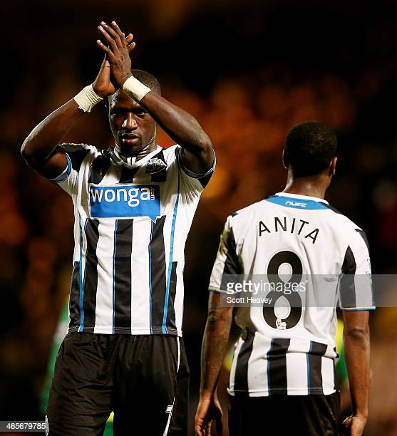 Moussa Sissoko of Newcastle during the Barclays Premier League match between Norwich City and Newcastle United at Carrow Road on January 28 2014 in...