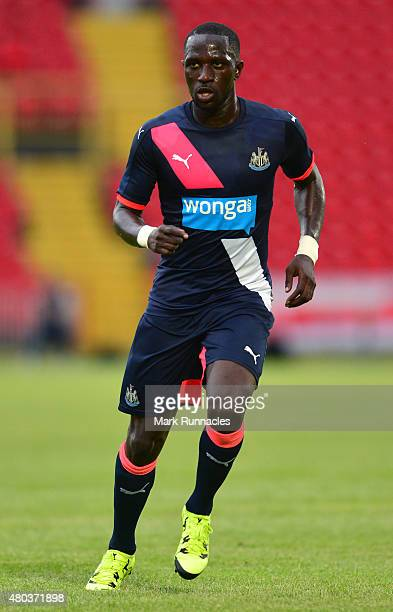 Moussa Sissoko of Newcastle in action during the pre season friendly between Gateshead and Newcastle United at Gateshead International Stadium on...