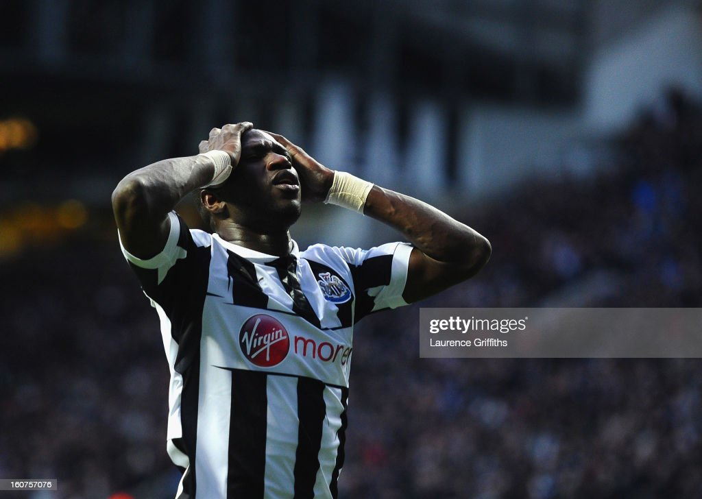 <a gi-track='captionPersonalityLinkClicked' href=/galleries/search?phrase=Moussa+Sissoko&family=editorial&specificpeople=4191251 ng-click='$event.stopPropagation()'>Moussa Sissoko</a> of Newcastle United in action during the Barclays Premier League match between Newcastle United and Chelsea at St James' Park on February 2, 2013 in Newcastle upon Tyne, England.