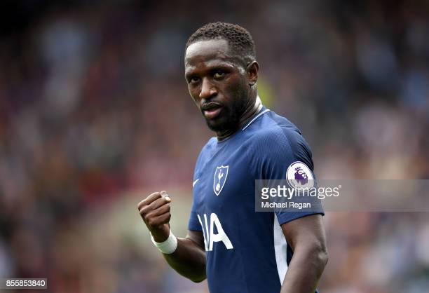 Moussa Sissoko of Tottenham Hotspur celebrates scoring his sides fourth goal during the Premier League match between Huddersfield Town and Tottenham...