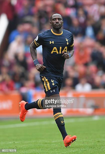 Moussa Sissoko of Tottenham Hotspur in action during the Premier League match between Stoke City and Tottenham Hotspur at Britannia Stadium on...