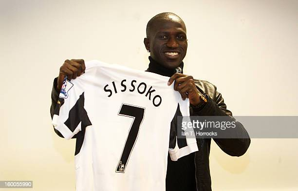 Moussa Sissoko pictured after signing for Newcastle United at the Little Benton training ground on January 25 2013 in Newcastle upon Tyne England