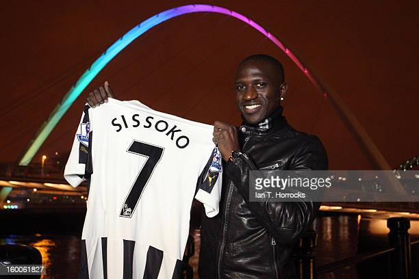 Moussa Sissoko pictured near the Millenium Bridge after signing for Newcastle United on January 25 2013 in Newcastle upon Tyne England