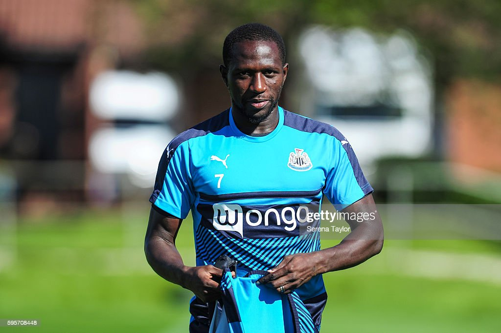 Moussa Sissoko walks outside during the Newcastle United Training Session at The Newcastle United Training Centre on August 26 in Bristol England
