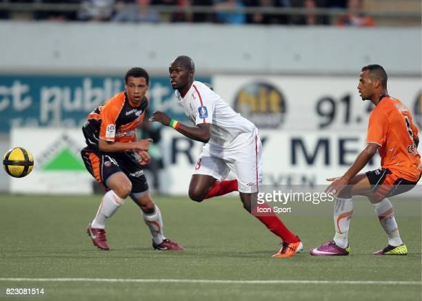 Moussa SOW / Francis COQUELIN et ROMAO û Lorient / Lille 32 eme journee de Ligue 1