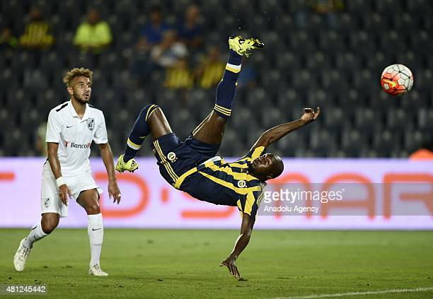 Moussa Sow of Fenerbahce in action during the practice match between Fenerbahce and Vitoria Guimaraes at the Sukru Saracoglu Stadium in Istanbul...