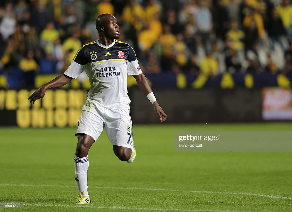 Moussa Sow of Fenerbahce SK in action during the UEFA Europa League group stage match between AEL Limassol FC and Fenerbahce SK held on October 25, 2012 at the GSP Stadium, in Nicosia, Cyprus.