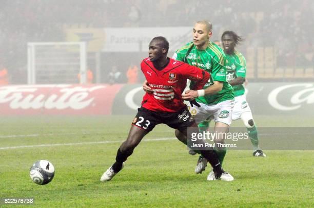 Moussa SOW / Yohan BENALOUANE Saint Etienne / Rennes 21e journee Ligue 1 Stade Geoffroy Guichard